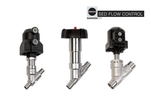 Angled seat valves