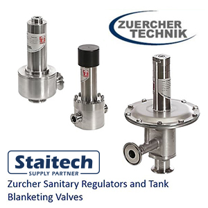 Regulators and tank blanketing valves